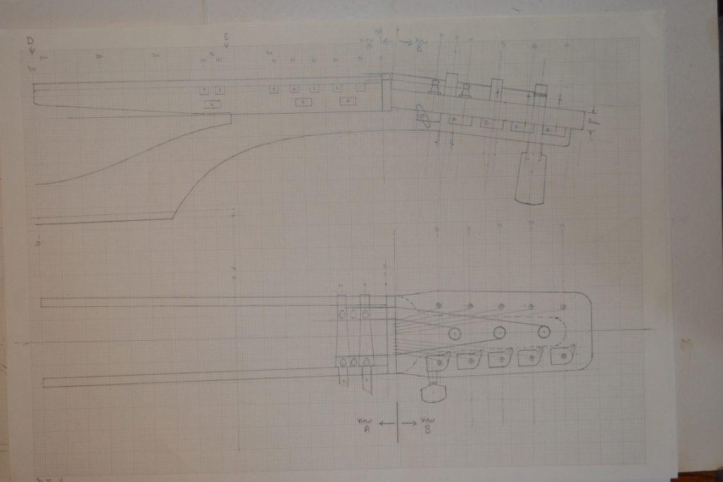 headstock drawing
