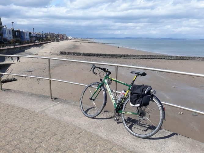 Bike at Porty beach