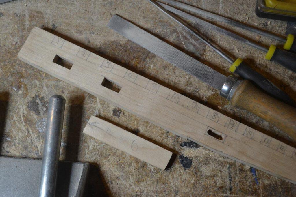 holes for quarter note keys