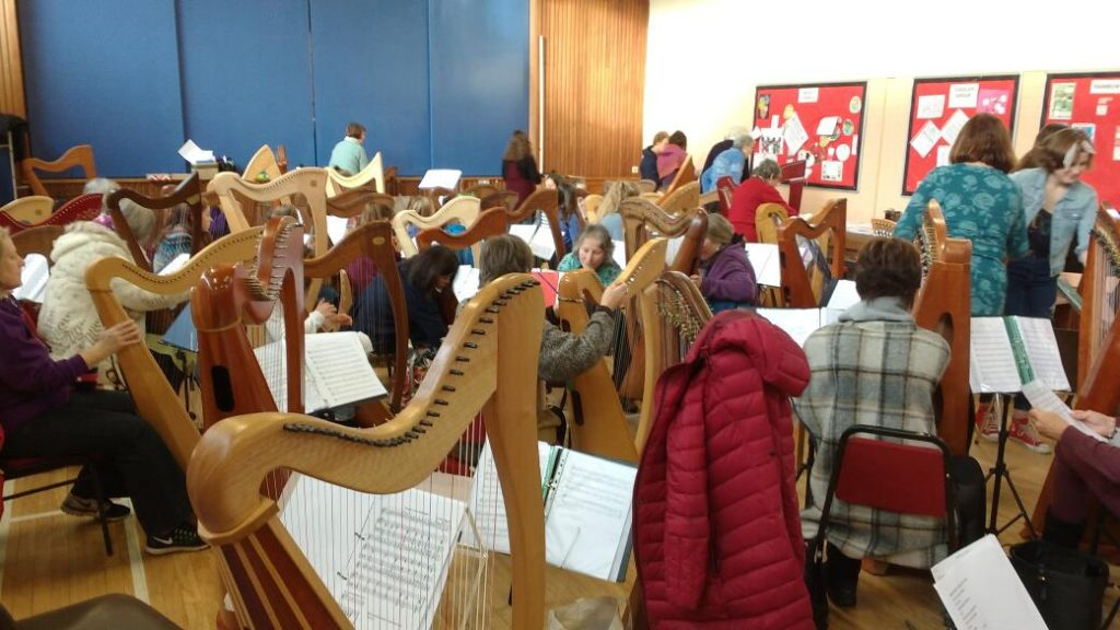 Harps of Gold rehearsal