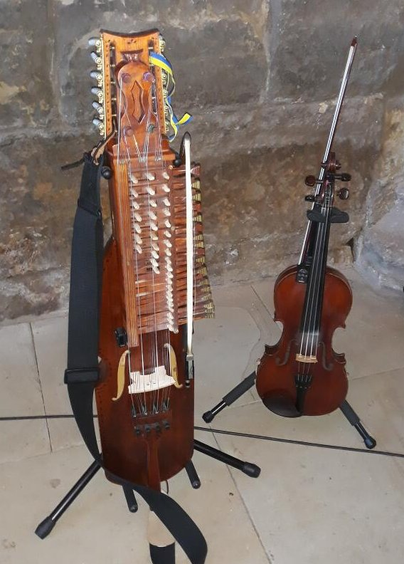 fiddle and harpa