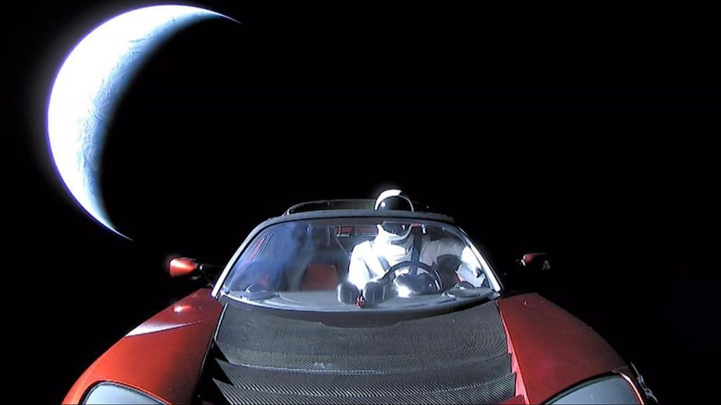 starman in car