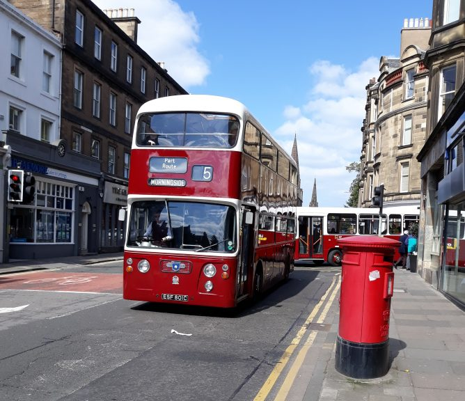 Old Edinburgh Buses