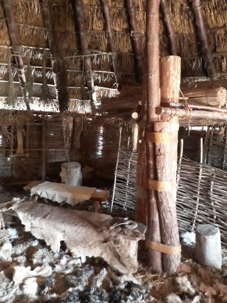 Inside the crannog