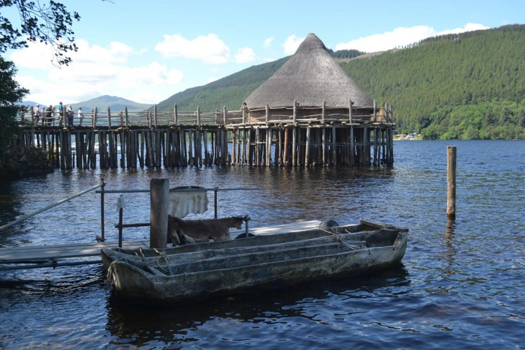 crannog and boats