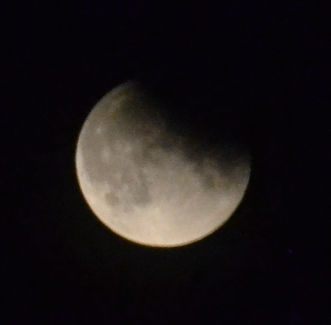 Moon partial eclipse