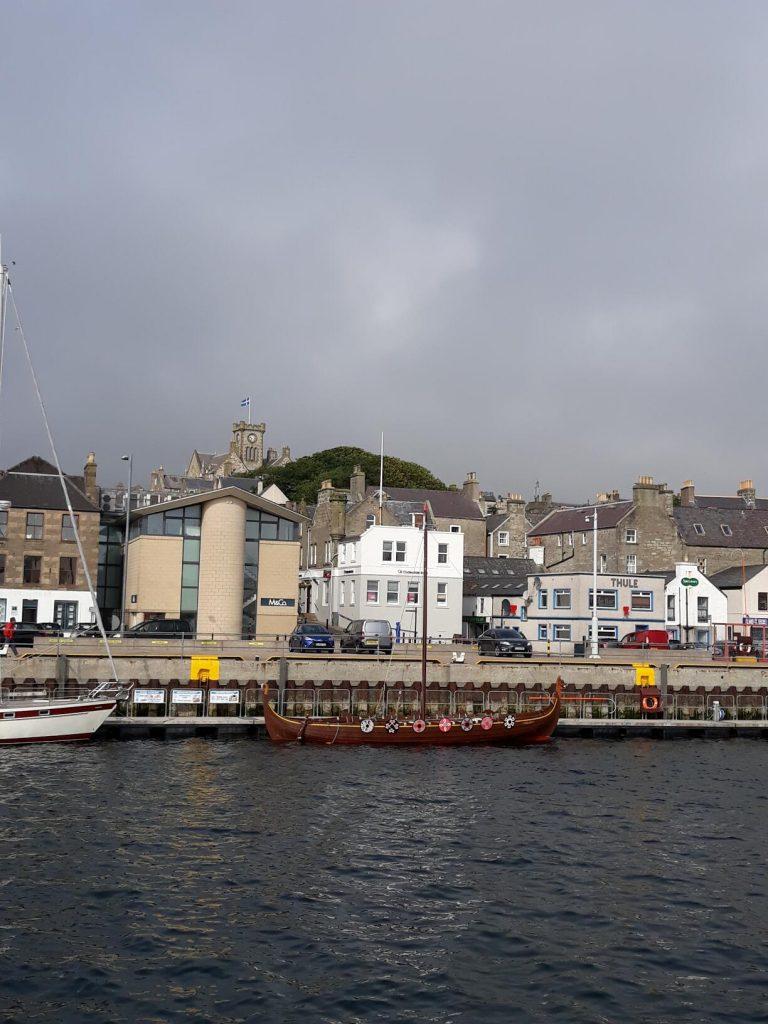 Viking replica boat