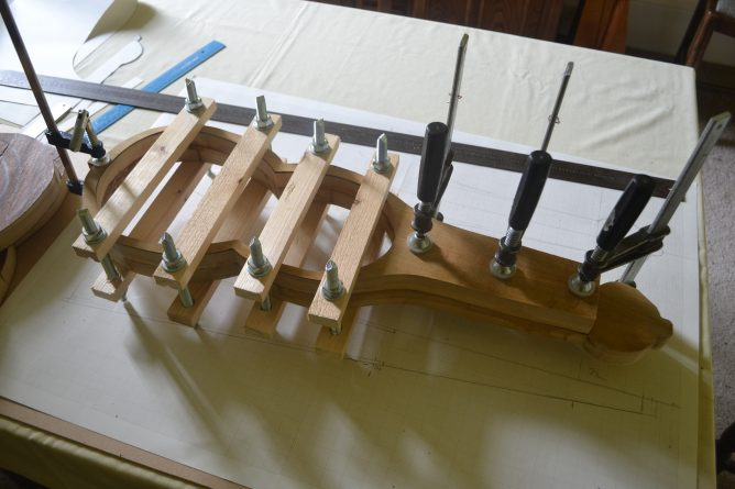 Glued bits and clamps