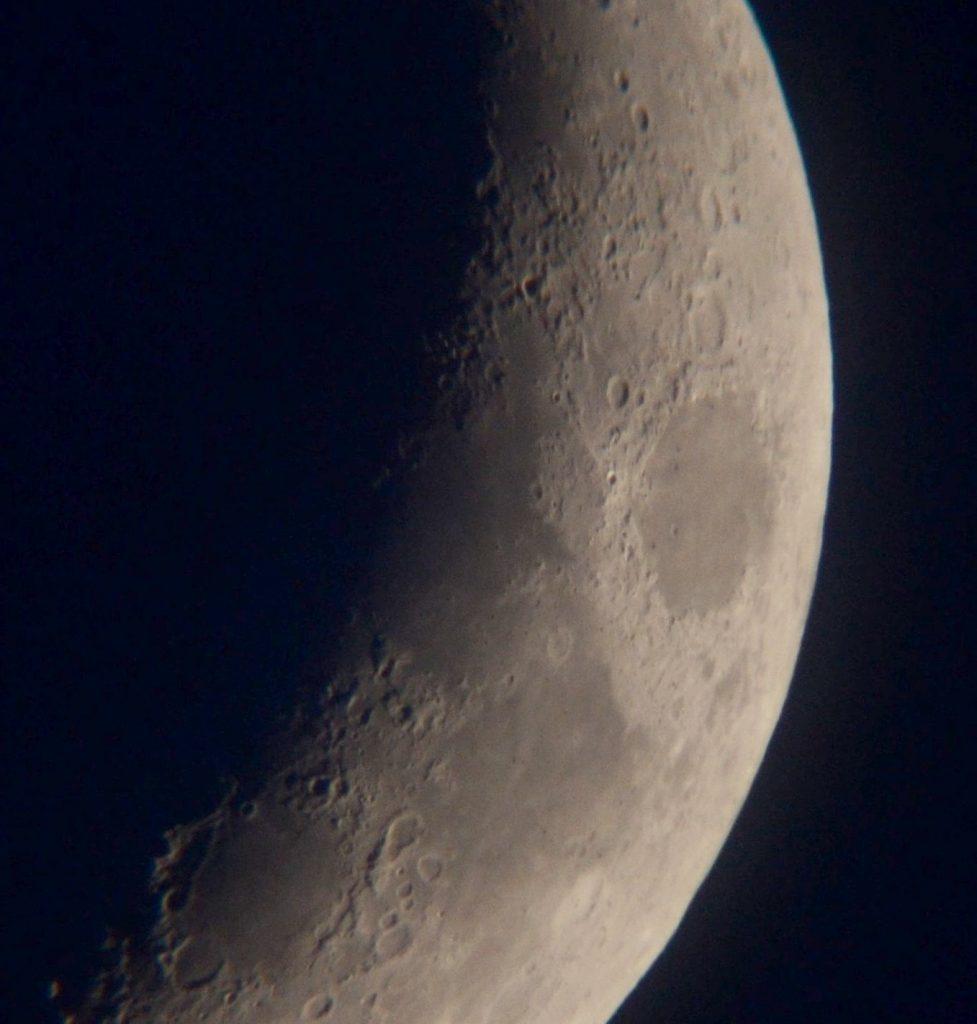 Moon north west edge